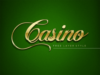 Golden Casino Layer Style