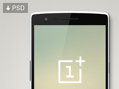 OnePlus One Mockup PSD