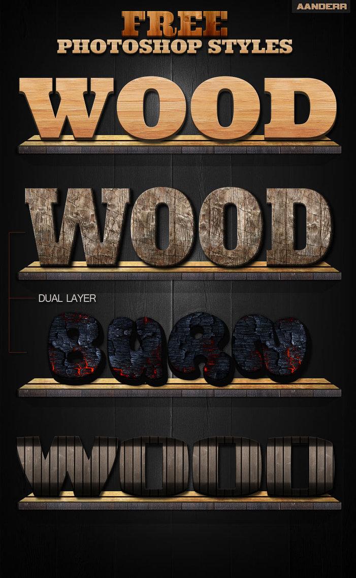 Photoshop Wood Styles