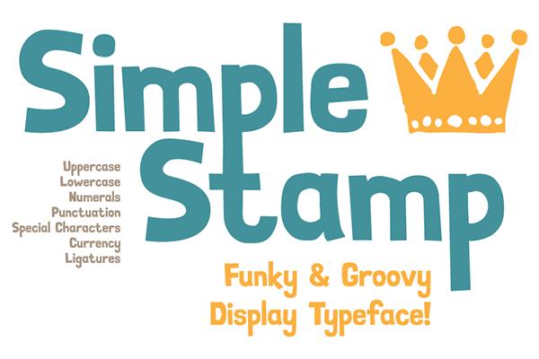 SimpleStamp Free Font