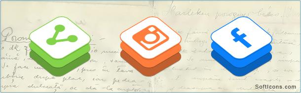 iOS 8 Style Social Media Icons