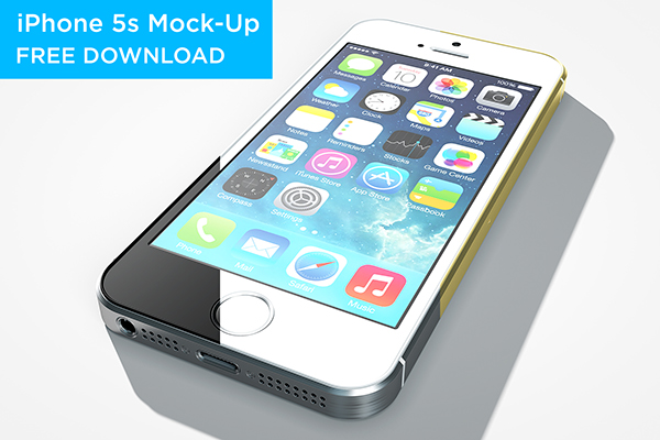 iPhone 5s Mock-Up Free Download