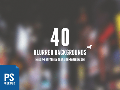 40 Blurred Backgrounds