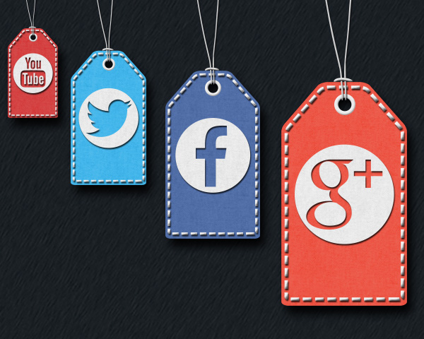 40 Free Stitched Social Media Tag Icons