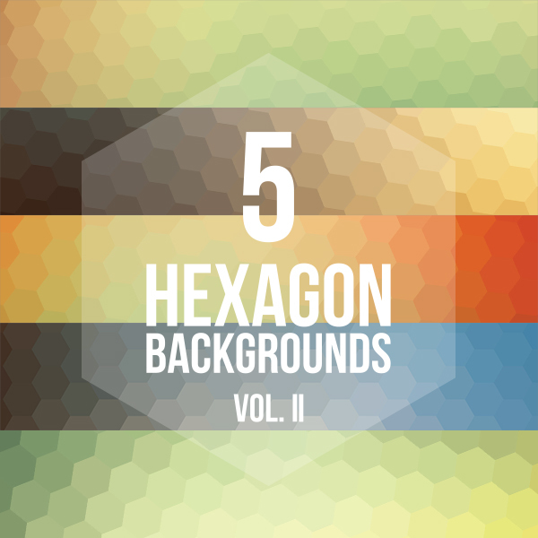 5 Hexagon Backgrounds Vol. II