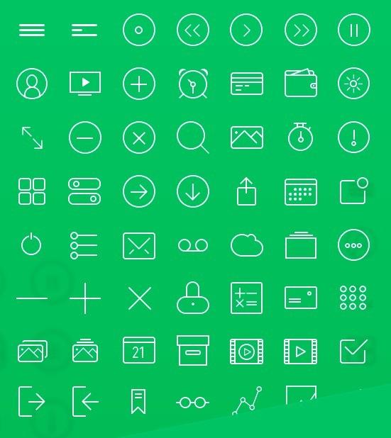 56 FREE Line icons