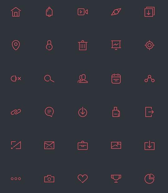 65 free line icons