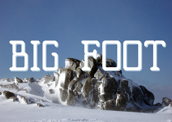 Big Foot Typeface