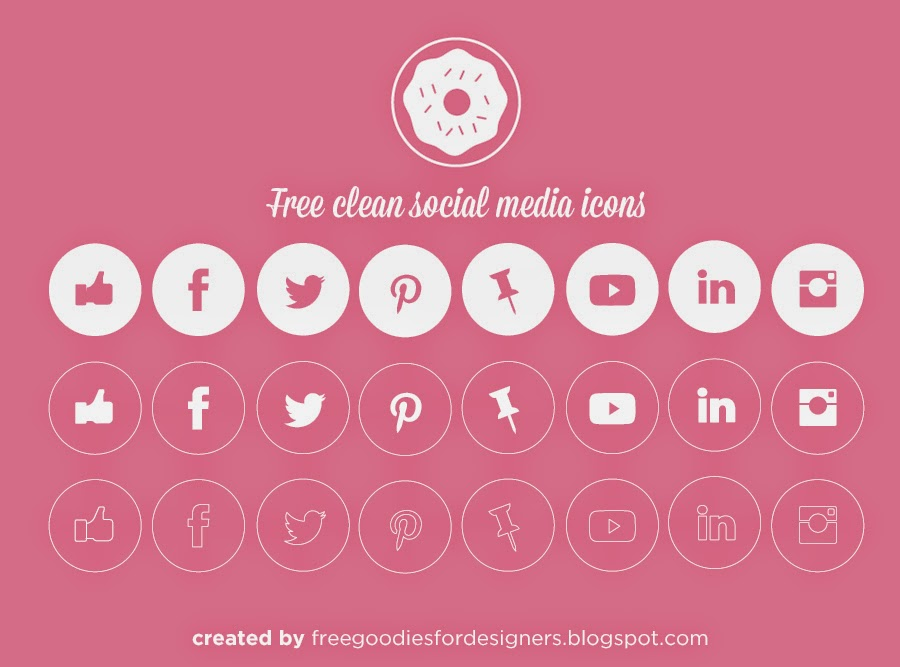 FREE VECTOR SOCIAL MEDIA CLEAN ICONS