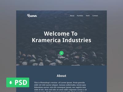 Kramer One Page Portfolio PSD