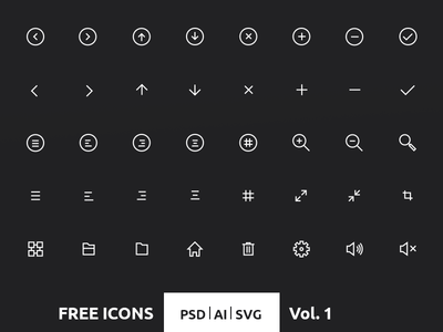 40 Crispy Icons in PSD, AI & SVG