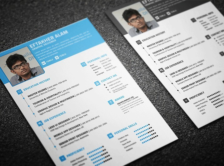 Free Resume CV & Business Card Templates