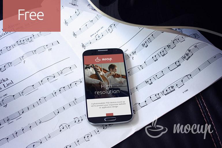 Free Samsung Galaxy S4 MockUp Musician