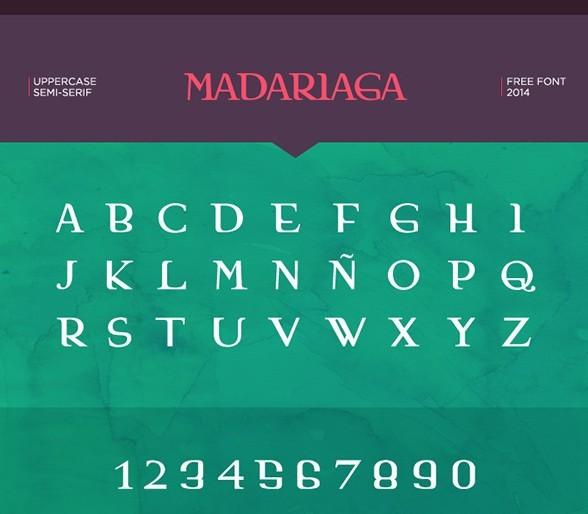 Madariaga - Free Font