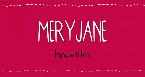 Meryjane typeface