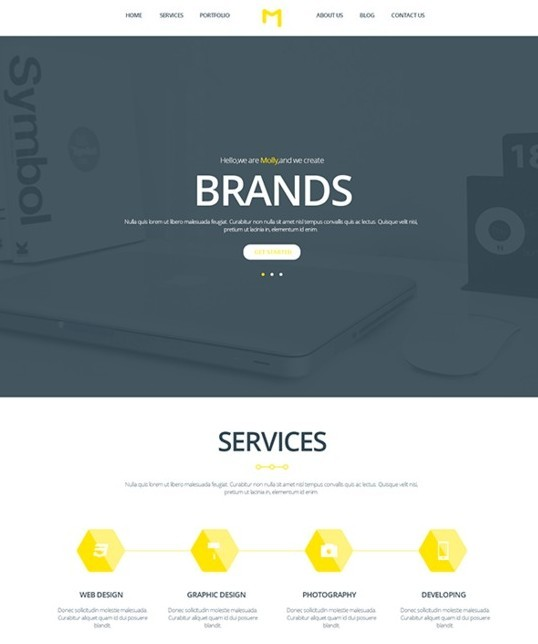 Molly - PSD Creative Single Page Template