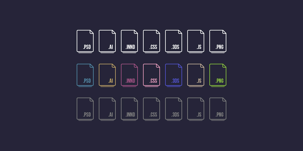 Vector File Extension Icons