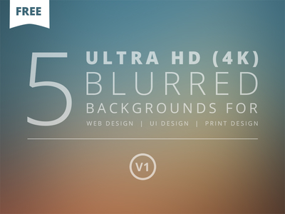 5 Ultra HD Blurred Backgrounds V1