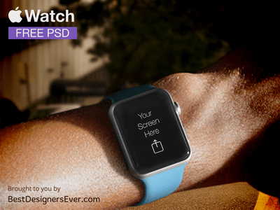 Apple Watch Template free PSD