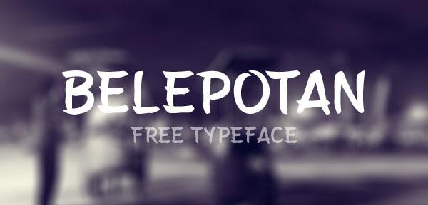 Belepotan - Free Typeface