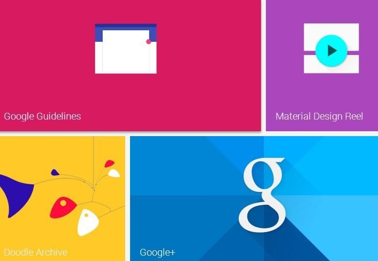 Material Design (CSS-based) - Tiles