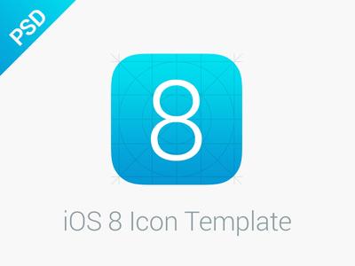 iOS 8 Icon Template