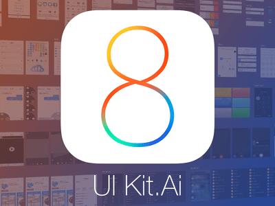 iOS 8 Vector Ui Kit