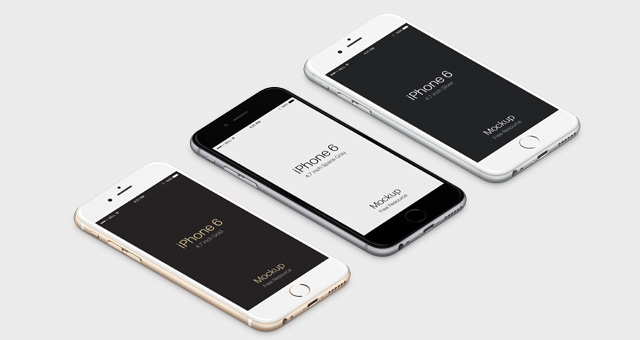 3D View iPhone 6 Psd Vector Mockup