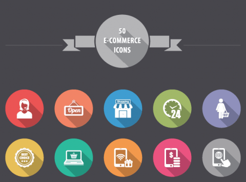 E-commerce Shopping Icon Set
