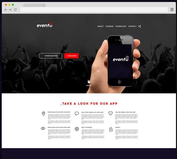 Evento Landing page