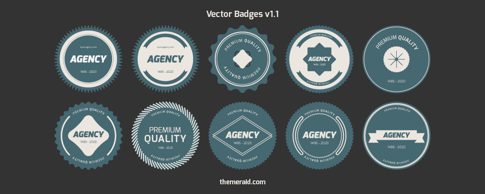 Flat Vector Badges