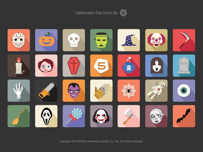 Free Halloween Vector Icon Set