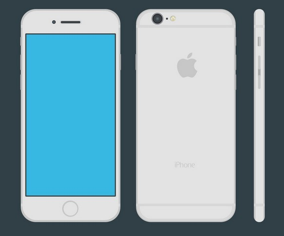 Iphone 6 Flat Vector Template