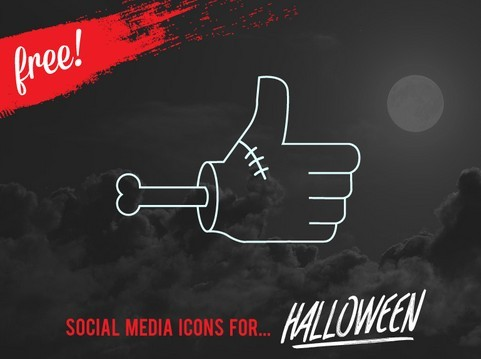 VECTOR HALLOWEEN SOCIAL MEDIA ICONS