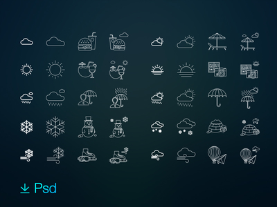 80 free weather & activities icon