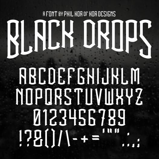 BlackDrops (font)