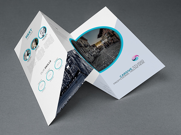 Creative Trifold Brochure Template PSD