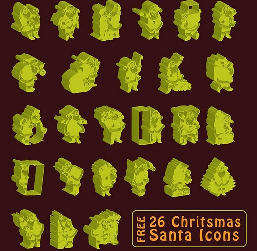 Free Christmas Icon with 3D