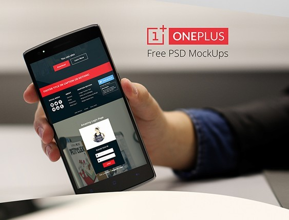 Free OnePlus One Mock Ups