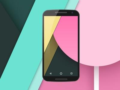 Nexus 6 Flat Mockup PSD