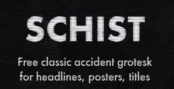 SCHIST Typeface
