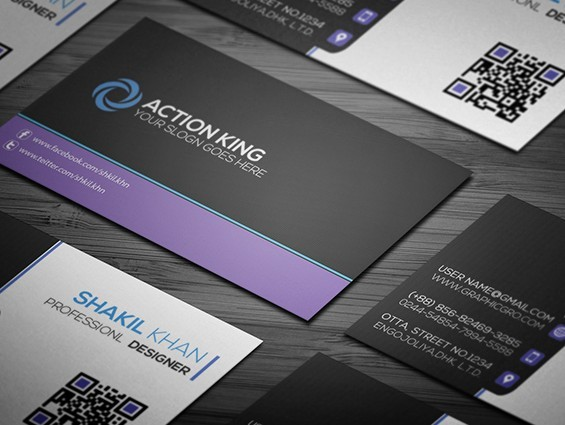Simple Corporat Business Card Template(Free)