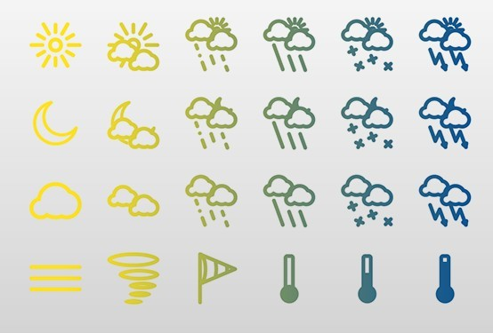 Weather icons 2x for iPhone