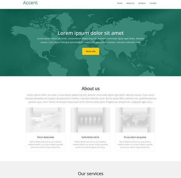 Accent – Free One Page HTML5 Template