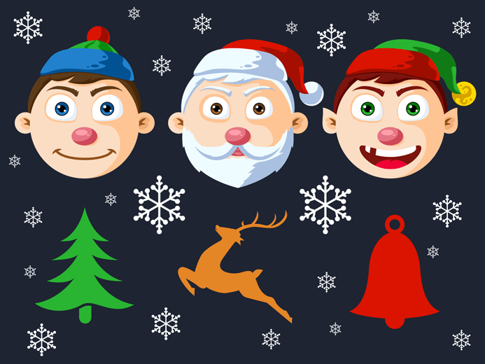 Christmas Character Heads PSD