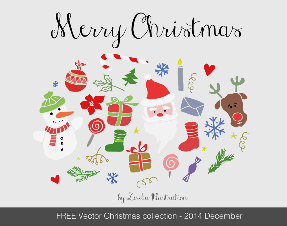 FREE Merry Christmas vector set