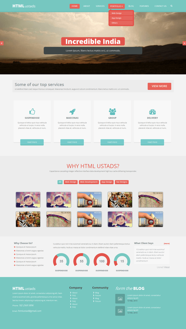 FREE One Page Reponsive HTML Template