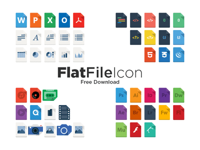 FlatFileIcon (AI Freebie)