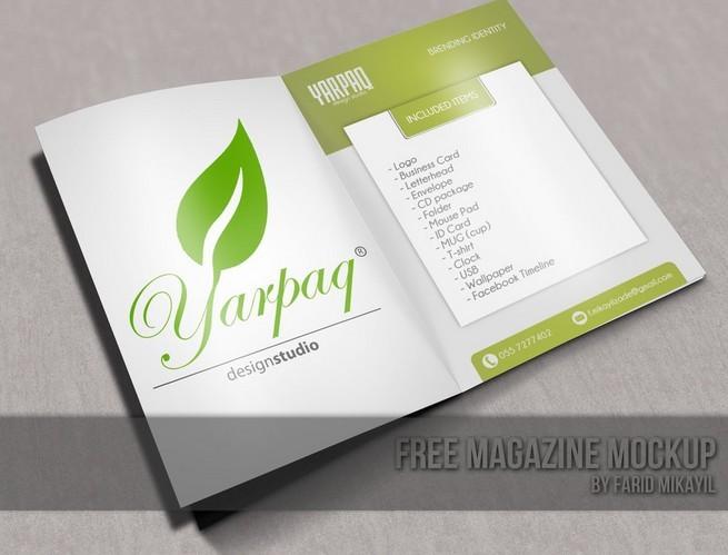 Free Magazine Mockup