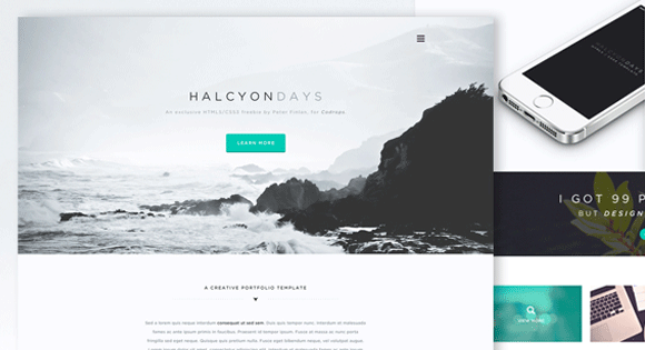 Halcyon Days - One Page Website Template